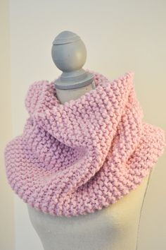 Blossom Pink Knit Cowl