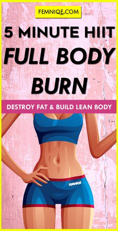 Full Body HIIT Workout Fat Burning: A 15 Minute Total Body Fat Destroyer - This total body workout will burn fat and save you alot of time. It short and super effective.