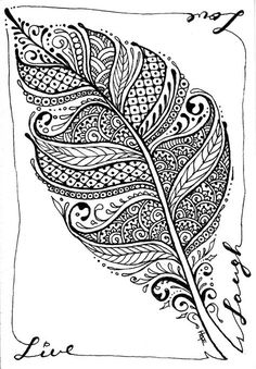 feather abstract coloring pages for adults ms