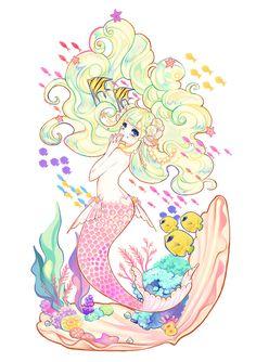 So cute mermaid. Mermaid Man, Anime Mermaid, Mermaid Melody, Cute Mermaid, Baby Mermaid, The Little Mermaid, Anime Galaxy, Snake Art, Mermaid Drawings