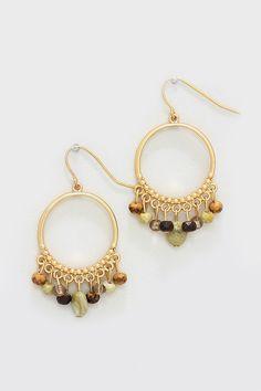 Boho Agate Cluster Earrings on Emma Stine Limited