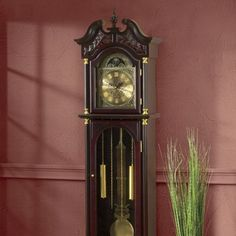 Accent Furniture   Stunning Carved Accents And A Traditional Bonnet Top Are  Marks Of Master Craftsmanship That Make This Grandfather Clock The Premiere  ...