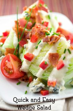 Try a Wedge Salad, they are simple to make, but these are the fancy salads that many steak restaurants serve. You can make this recipe at home.