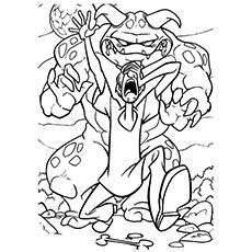 Scooby Doo Coloring Pages Minotaur