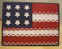 handmade 4th of July card ... simplified flag design ... red, white and blue ... like the symmetry ...