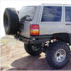 PreRunner Rear Bumper w/ Tire Rack ZJ - WILD HORSES Off-Road Parts & Accessories