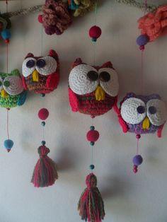 Crochet Tunic Pattern, Owl Crochet Patterns, Crochet Owls, Crochet Home, Cute Crochet, Crochet Designs, Crochet Crafts, Crochet Projects, Knit Crochet