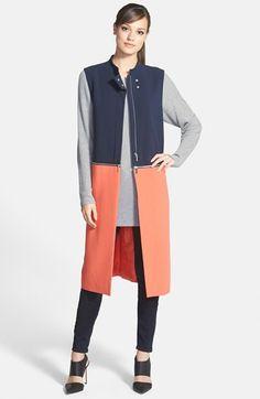 Trouve Trouvé Colorblock Longline Zip Vest available at #Nordstrom  $138