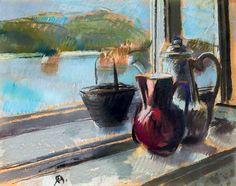 Bernáth, Aurél - View from the studio's window (The Danube) Window View, Windows, Paintings, Studio, Paint, Painting Art, Studios, Painting, Drawings