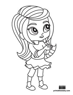 Shine And Shimmer Coloring Pages Printable Ellis