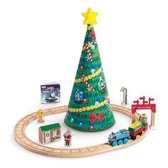 Thomas & Friends Wooden Railway Thomas' Christmas Wonderland Set #ThomasFriends