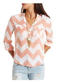 Chiffon Tops, Blouses & Button-Up Shirts: Charlotte Russe