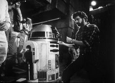 """""""Knock 'em dead champ.""""  Star Wars  A New Hope  George Lucas  R2-D2  Behind the Scenes"""