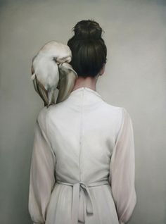 """You are giver,"""" the Owl whispered, louder than cleft-toungues could hiss. """"You are artist, you are poet, and you are mother"""" (photo: Amy Judd) #OilPaintingOwl"""