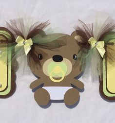 Teddy bear baby shower / gender reveal by NancysBannerBoutique