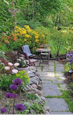 create a tiny patio
