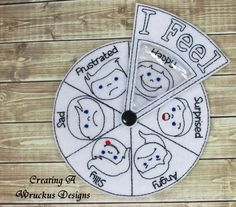 Feelings Wheel, Feelings Book, Inside Out Party Ideas, Quiet Book Patterns, Preschool Lesson Plans, Kids Class, Toddler Books, Busy Book, Book Crafts