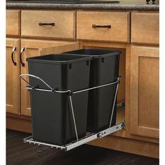 Undersink Trash Can Kitchen Garbage Cabinet Door Garage Shelf