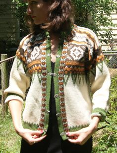 Handmade Norwegian Christmas Sweater, $65.95, via Etsy.
