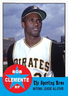 1963 Topps Roberto Clemente All Star. Pittsburgh Pirates. Baseball Cards That Never Were