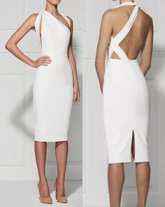 Misha Collection Unique White One-strap Bodycon Dress Sexy Dresses, Cute Dresses, Beautiful Dresses, Evening Dresses, Casual Dresses, Short Dresses, Dresses For Work, Formal Dresses, Elegant Dresses