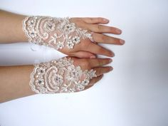 Lacy gloves make an elegant touch. I've always liked them...