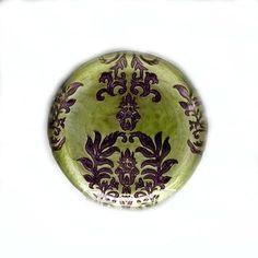 Damask Green/Purple Salad Plate
