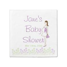 Shop Purple Silhouette Baby Shower Napkins created by LaBebbaDesigns. Baby Shower Napkins, Baby Shower Invitations, Cloth Napkins, Paper Napkins, Baby Silhouette, Ecru Color, Cocktail Napkins, Purple, Pink