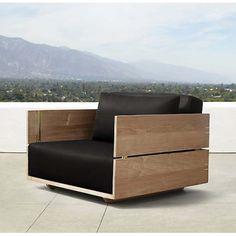 Royal Crafts Mango Wood Single Seater Sofa Lite Hony Colour