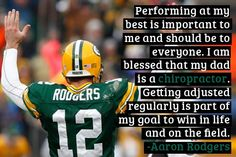 Aaron Rodgers on #chiropractic care