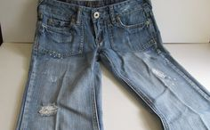 Festival Ready Distressed Jeans Low Rise by ReVintageBoutique