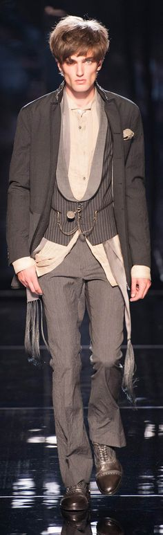 I love this look, by John Varvatos (2)...The model is creepy as hell though...gross...