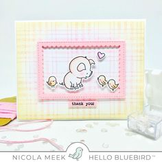 Pig Day - Hello Bluebird Stamps.  Card by Nicky Noo Cards #nickynoocards