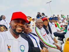 The executive Governor of Lagos state, governor Akinwumni Ambode and the Honourable Minister Of information, Lai Mohammed were pictured in sporting attires at the lagos city marathon.
