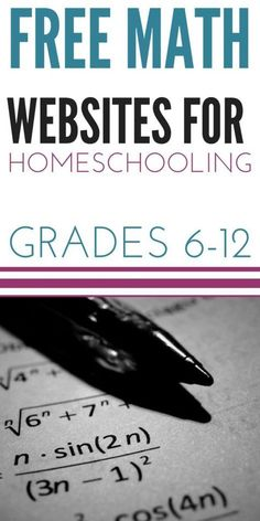 Free Math Websites for Homeschooling Grades Math Websites for Homeschooling Grades is an AMAZING resource for homeschooling middle school and high school So many free videos and worksheets to add to your homeschool curriculum Free Math Websites, Learning Websites, Educational Websites, School Websites, Learning Time, Educational Leadership, Learning Tools, Educational Toys, Kids Learning