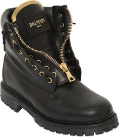 20mm Taiga Leather Boots Balmain boots fall boots winter boots ankle boots women's timberland