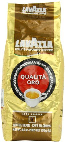 Lavazza Qualita Oro  Whole Bean Coffe 88Ounce Bags Pack of 4 * This is an Amazon Associate's Pin. View the item in details on Amazon website by clicking the image