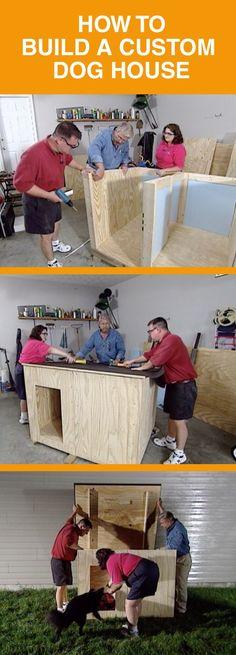 How To Build A Dog Kennel In Easy Steps Build - wie man eine hundehütte in einfachen schritten baut - - comment construire un chenil en étapes faciles - cómo construir una perrera para perros en pasos sencillos Cheap Dog Kennels, Diy Dog Kennel, Kennel Ideas, Outdoor Dog Kennel, Pallet Dog House, Build A Dog House, Large Dog House Plans, Dyi Dog House, Double Dog House