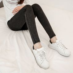 Was thin 2016 new fall and winter maternity jeans trousers stretch Slim Korean fashion prop belly pregnant women pencil pants