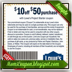 Lowes 10 off 50 online coupon code February 2015