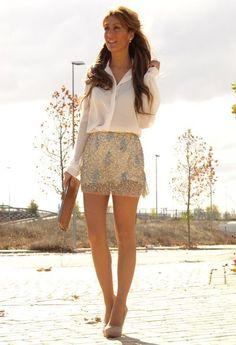 PAILLETES  , Zara en Camisas / Blusas, Zara en Faldas