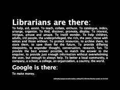 I love Google. But it's not a librarian.