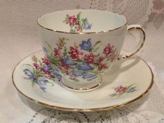 Vintage H&M Sutherland  China Cup and Saucer - Made in England