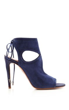 Blue Sexy Thing Bootie by Aquazzura Now Available on Moda Operandi