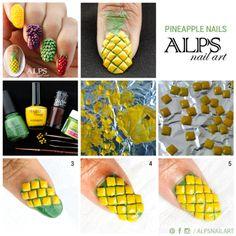 pineapple-nails- www.salonfanatic.com