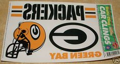 "GREEN BAY PACKERS 3 CAR/WINDOW CLINGS 8""x 2"" 5""x 4"""