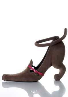 Cat Shoe  This playful cat design gives a whole new meaning to the term 'kitten heels'.