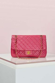 Vintage Chanel 2.55 Quilted Pink Leather Bag    Chic Only  Glamour Always  Pink Chanel 9f7faa06ca