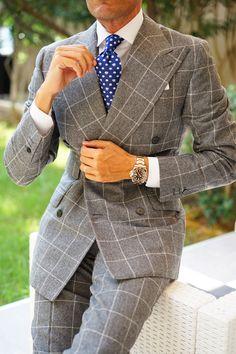 Blazer Fashion, Mens Fashion Suits, Mens Suits, Men's Fashion, Dapper Gentleman, Gentleman Style, Sharp Dressed Man, Well Dressed Men, Suit Combinations