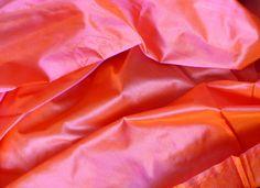 Silk Taffeta in Coral Pink with orange shimmer Peach Orange, Light Orange, Orange Color, Coral Pink, Magenta, Silk Taffeta, Color Blending, Color Pallets, Roman Shades